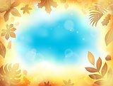 Leaves theme background 1