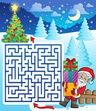 Maze 3 with Santa Claus and gifts