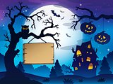 Scenery with Halloween thematics 3