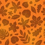 Seamless background with leaves 1