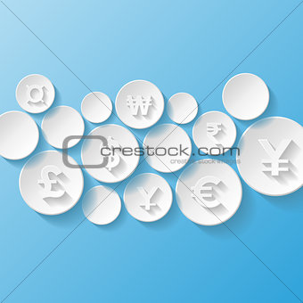 Abstract background with currency symbols