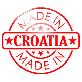 Made in Croatia red seal