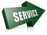 Service green blue arrow