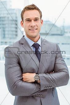 Portrait of smart businessman in suit