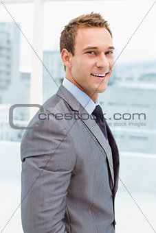 Portrait of smart businessman in suit