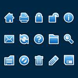 Blue sticker web icons