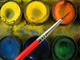 brush and watercolor box