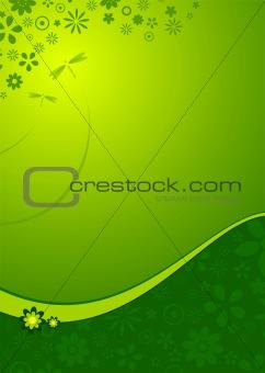 green flower portrait