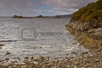 Beach of pebbles