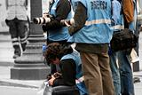 Reporters and cameramen