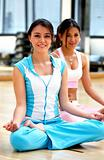 girls at the gym - yoga