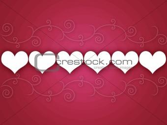 Swirly Hearts Background