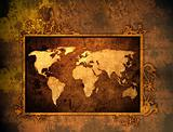 world map-vintage artwork