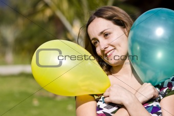 Beauty with balloons