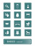 babies icon set