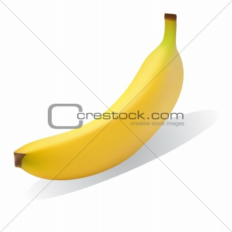 Bright yellow ripe banana