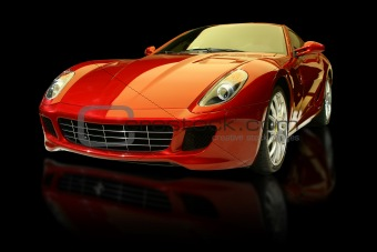 Red luxury sports car