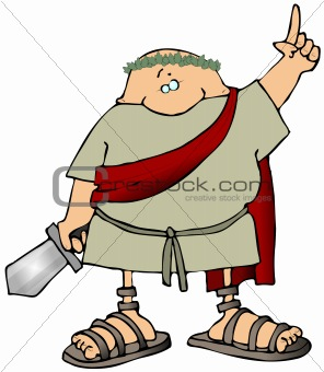 Toga Man With A Sword