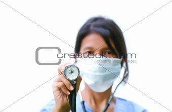 Nurse with stethscope
