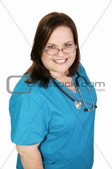 Beautiful Plus-sized Nurse