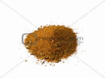 Cajun Seasoning Pile Isolated
