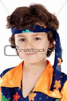 Adorable child hippie