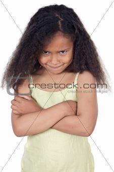 Adorable angry girl