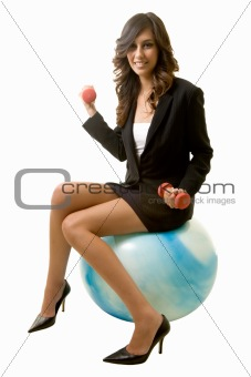 Fit business woman