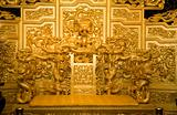 Chinese Golden Emperor's Throne with Dragons Reproduction