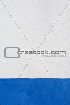 Blue baseboard