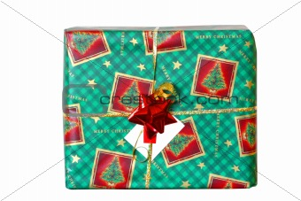 green wrapped present