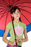 girl whit umbrella