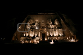 abu simbel night