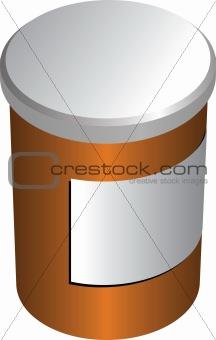 Closed pillbox illustration