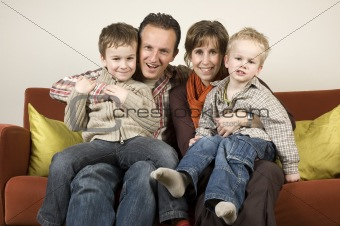 Family On A Couch 2