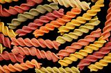 fusilli pasta food background
