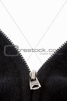 Black Sweater Zipper on White