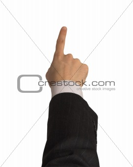 businesman's hand with clipping path