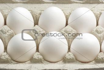 Cardboard box with eggs