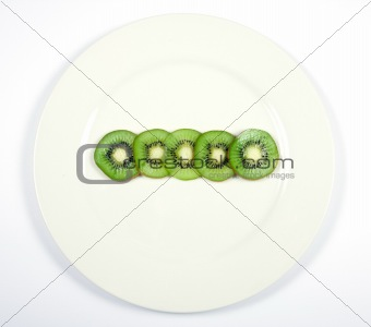 Kiwi Fruit on a Plate