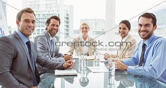 Business people in board room meeting