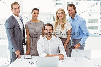 Portrait of business people at office