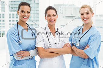 Portrait of female doctors with arms crossed