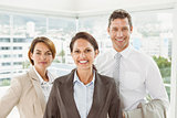 Confident business people in office