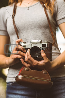Close up of a camera retro