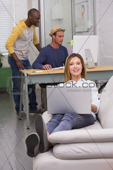 Casual colleagues at work in office
