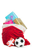 Red bag full of presents