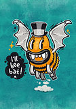 Cartoon Monster I'll Bee Bat