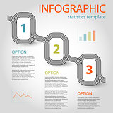 business infographic 3 steps timeline