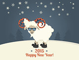 Happy new year postcard design